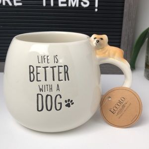 😍 NEW Life is better with a dog mug